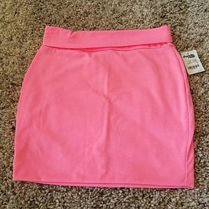 Fluorescent pink mini skirt NWT